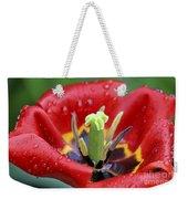 Rain Kissed Tulip 2 Weekender Tote Bag