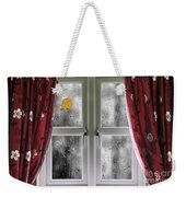 Rain On A Window With Curtains Weekender Tote Bag