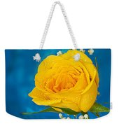 Rain On A Yellow Rose Weekender Tote Bag