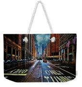 Rain On Park Avenue Weekender Tote Bag