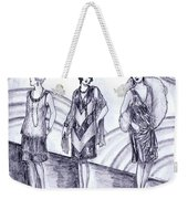 Rainbow 1920s Fashions Weekender Tote Bag