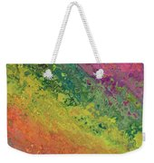 Rainbow Abstract Weekender Tote Bag