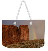 Rainbow And Red Rock Weekender Tote Bag