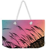 Rainbow Batik Sea Grass Gradient Silhouette Weekender Tote Bag