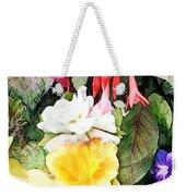 Rainbow Flower Basket Weekender Tote Bag