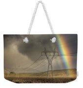 Rainbow Forms Over Powerlines Weekender Tote Bag