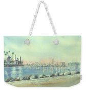 Rainbow Harbor And The Oil Island Weekender Tote Bag