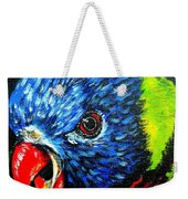 Rainbow Lorikeet Look Weekender Tote Bag