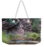 Rainbow Of The Season And River Over Rocks Weekender Tote Bag by Heather Kirk
