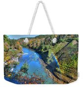 Rainbow On A Beautiful Oct Day Weekender Tote Bag