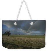 Rainbow Over Fields At Kangaroo Island Weekender Tote Bag