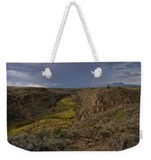 Rainbow Over The Rio Pueblo Weekender Tote Bag by Ron Cline