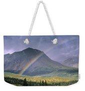 Rainbow Over Willmore Wilderness Park Weekender Tote Bag