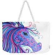 Rainbow Spotted Horse Weekender Tote Bag