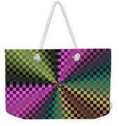 Rainbow Squares Weekender Tote Bag