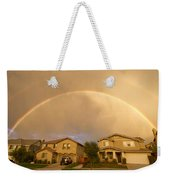 Rainbows Over Suburbia 1 Weekender Tote Bag