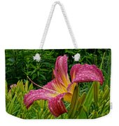 Raindrops On Lilly Weekender Tote Bag
