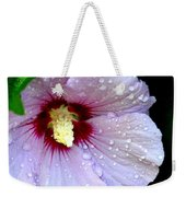 Raindrops On Roses Of Sharon Weekender Tote Bag