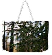 Raindrops On The Spruce Twig Weekender Tote Bag
