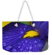 Raindrops Purple Dutch Iris Flower Weekender Tote Bag