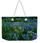 Rainier Wildflower Dawn Weekender Tote Bag by Mike  Dawson