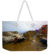 Rainy Day Abstract Weekender Tote Bag