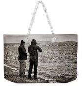 Rainy Day Fishing Weekender Tote Bag