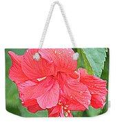 Rainy Day Hibiscus Weekender Tote Bag