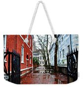Rainy Philadelphia Alley Weekender Tote Bag by Bill Cannon
