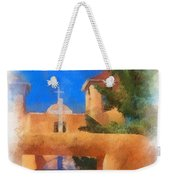 Ranchos Church Gate - Aquarell Weekender Tote Bag