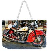 Rare Indian Motorcycle Weekender Tote Bag