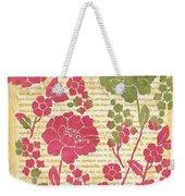 Raspberry Sorbet Floral 2 Weekender Tote Bag