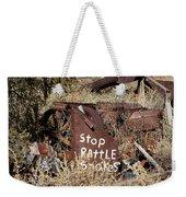 Rattlesnake Warning Weekender Tote Bag