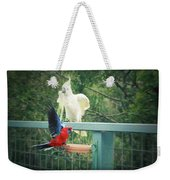 Raucous At The Feeding Bowl  Weekender Tote Bag