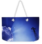 Rays Of Sunshine With Cloud And Cross Weekender Tote Bag