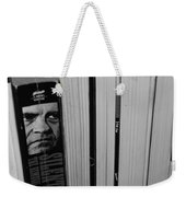 Reading With Dick In Black And White Weekender Tote Bag