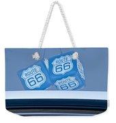 Rear View Mirror Dice Weekender Tote Bag