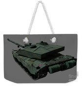 Rear View Of A British Challenger II Weekender Tote Bag by Rhys Taylor