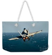 Rear View Of An Fa-18c Hornet Taking Weekender Tote Bag by Stocktrek Images