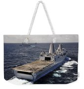 Rear View Of Uss Green Bay Weekender Tote Bag