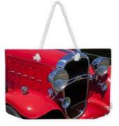 Red 1932 Oldsmobile Weekender Tote Bag