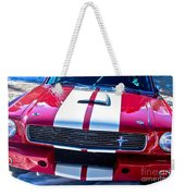 Red 1966 Mustang Shelby Weekender Tote Bag