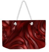 Red Abstract Texture Weekender Tote Bag