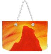 Red And Orange Weekender Tote Bag