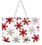 Red And Silver Snowflakes Weekender Tote Bag