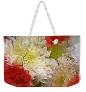 Red And White Mums Photoart Weekender Tote Bag