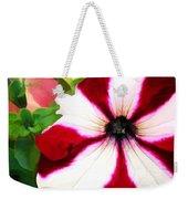 Red And White Petunia Weekender Tote Bag