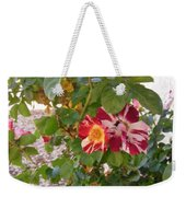 Red And White Roses 3 Weekender Tote Bag