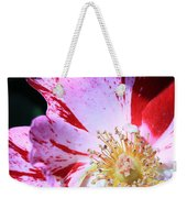 Red And White Speckled Flower Weekender Tote Bag