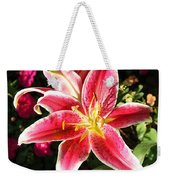 Red And White Tiger Lily Weekender Tote Bag